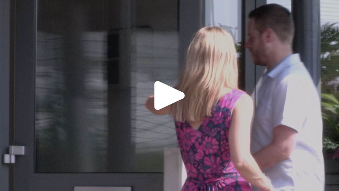 Dean and Donna entering Switchplane office