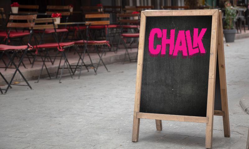 Chalk logo blackboard