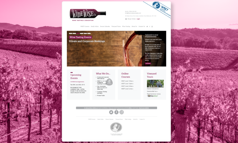 Winewise homepage