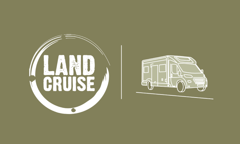 Landcruise logo campervan outline