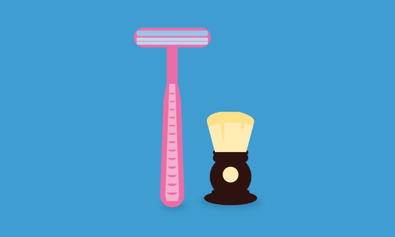 Occam's razor blade brush shaving equipment
