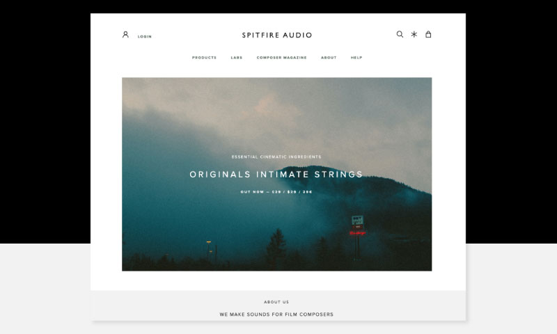 Spitfire Audio home page